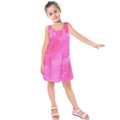 Sky pattern Kids  Sleeveless Dress