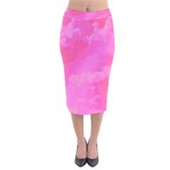 Sky pattern Velvet Midi Pencil Skirt