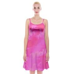 Sky pattern Spaghetti Strap Velvet Dress