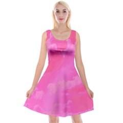 Sky pattern Reversible Velvet Sleeveless Dress