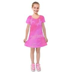 Sky pattern Kids  Short Sleeve Velvet Dress