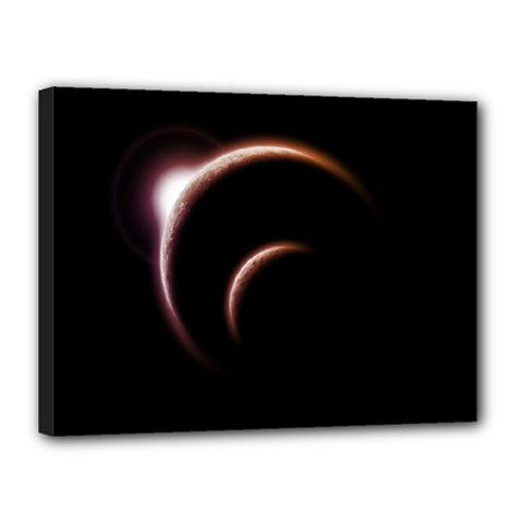 Planet Space Abstract Canvas 16  X 12  by Nexatart