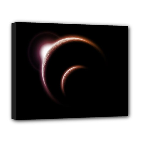 Planet Space Abstract Deluxe Canvas 20  X 16