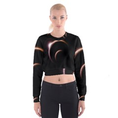 Planet Space Abstract Cropped Sweatshirt