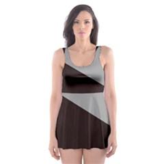 Course Gradient Color Pattern Skater Dress Swimsuit