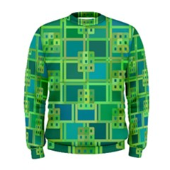 Green Abstract Geometric Men s Sweatshirt