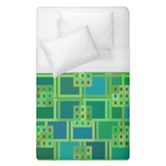 Green Abstract Geometric Duvet Cover (single Size)