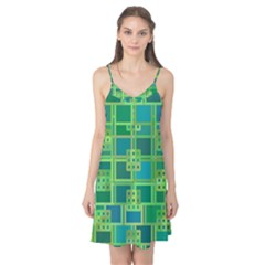 Green Abstract Geometric Camis Nightgown