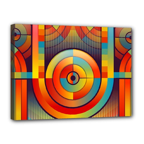 Abstract Pattern Background Canvas 16  X 12  by Nexatart