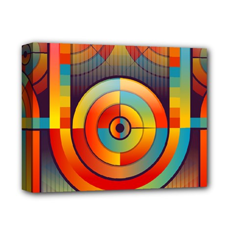Abstract Pattern Background Deluxe Canvas 14  X 11  by Nexatart