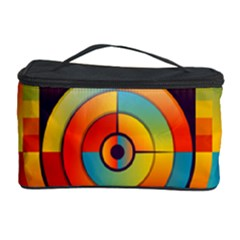 Abstract Pattern Background Cosmetic Storage Case by Nexatart