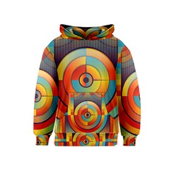 Abstract Pattern Background Kids  Pullover Hoodie