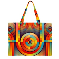 Abstract Pattern Background Zipper Large Tote Bag