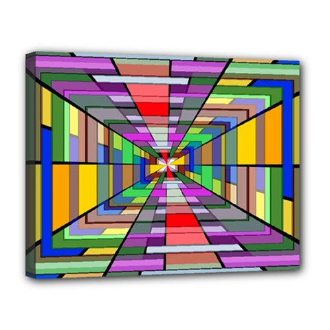 Art Vanishing Point Vortex 3d Canvas 14  X 11  by Nexatart