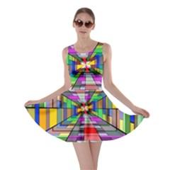 Art Vanishing Point Vortex 3d Skater Dress