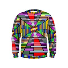 Art Vanishing Point Vortex 3d Kids  Sweatshirt