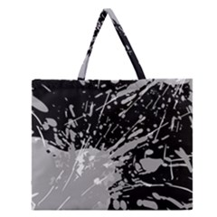 Art About Ball Abstract Colorful Zipper Large Tote Bag by Nexatart
