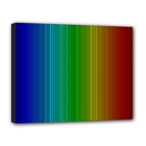 Spectrum Colours Colors Rainbow Canvas 14  X 11  by Nexatart