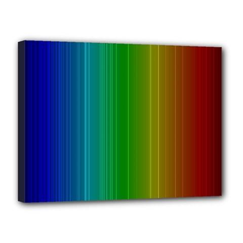 Spectrum Colours Colors Rainbow Canvas 16  X 12