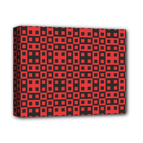 Abstract Background Red Black Deluxe Canvas 14  X 11