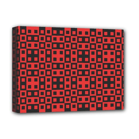 Abstract Background Red Black Deluxe Canvas 16  X 12