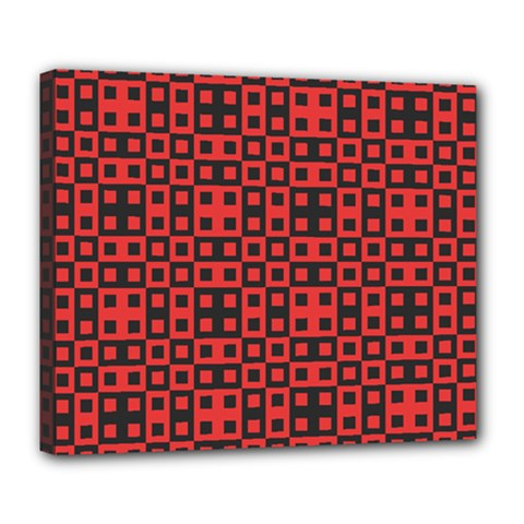 Abstract Background Red Black Deluxe Canvas 24  X 20