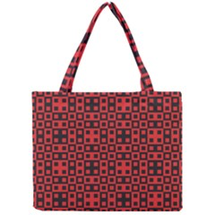 Abstract Background Red Black Mini Tote Bag