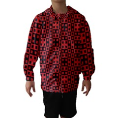 Abstract Background Red Black Hooded Wind Breaker (kids)
