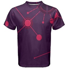 Abstract Lines Radiate Planets Web Men s Cotton Tee