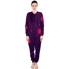 Abstract Lines Radiate Planets Web Onepiece Jumpsuit (ladies)