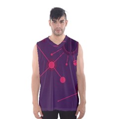 Abstract Lines Radiate Planets Web Men s Basketball Tank Top