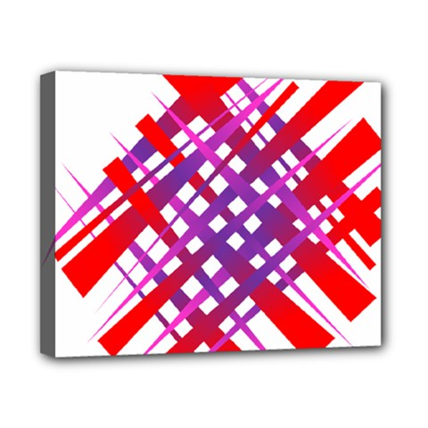 Chaos Bright Gradient Red Blue Canvas 10  X 8  by Nexatart