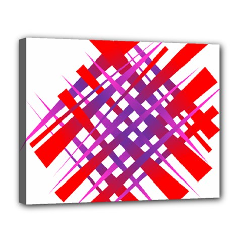 Chaos Bright Gradient Red Blue Canvas 14  X 11  by Nexatart
