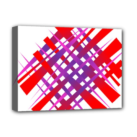 Chaos Bright Gradient Red Blue Deluxe Canvas 16  X 12