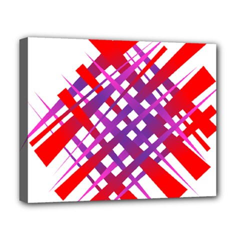 Chaos Bright Gradient Red Blue Deluxe Canvas 20  X 16