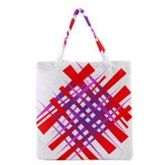Chaos Bright Gradient Red Blue Grocery Tote Bag by Nexatart