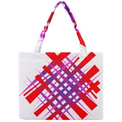 Chaos Bright Gradient Red Blue Mini Tote Bag by Nexatart