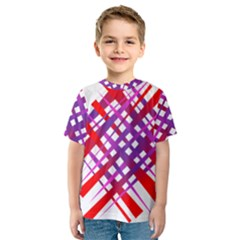 Chaos Bright Gradient Red Blue Kids  Sport Mesh Tee