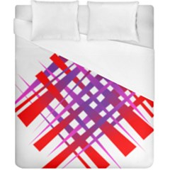 Chaos Bright Gradient Red Blue Duvet Cover (California King Size) by Nexatart