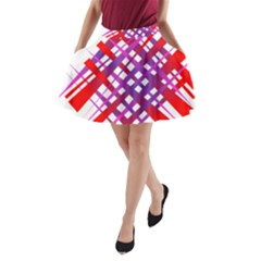 Chaos Bright Gradient Red Blue A Line Pocket Skirt by Nexatart