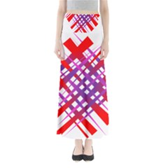 Chaos Bright Gradient Red Blue Maxi Skirts