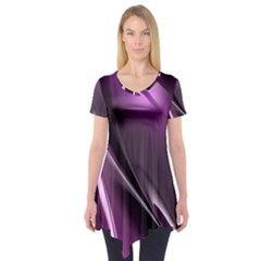 Fractal Mathematics Abstract Short Sleeve Tunic  by Nexatart