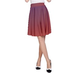 Course Colorful Pattern Abstract A Line Skirt