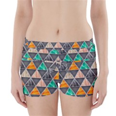 Abstract Geometric Triangle Shape Boyleg Bikini Wrap Bottoms