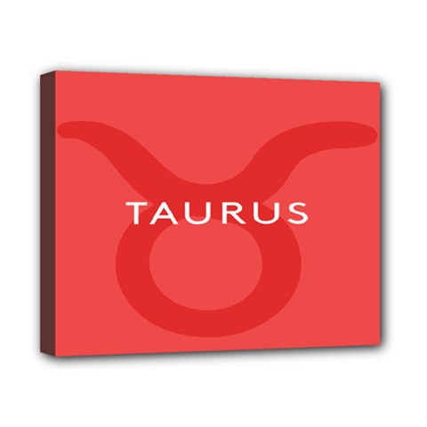 Zodizc Taurus Red Canvas 10  X 8