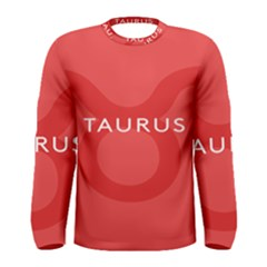 Zodizc Taurus Red Men s Long Sleeve Tee by Mariart