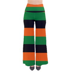 Color Green Orange Black Pants by Mariart