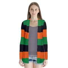 Color Green Orange Black Cardigans by Mariart