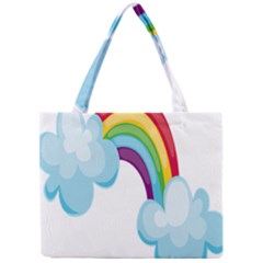 Could Rainbow Red Yellow Green Blue Purple Mini Tote Bag by Mariart