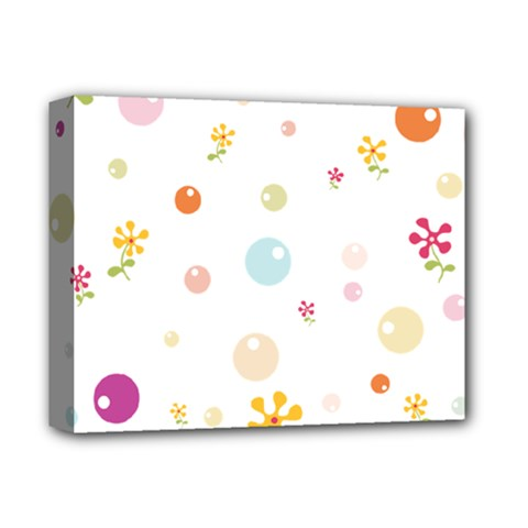 Flower Floral Star Balloon Bubble Deluxe Canvas 14  X 11  by Mariart